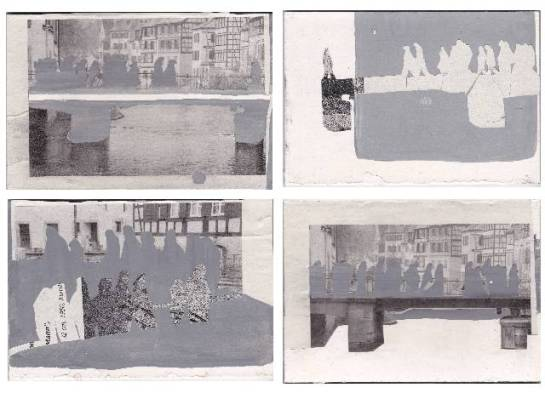 Scherenschnitte und Acryl auf Karton, 10 x 15 cm, 2013