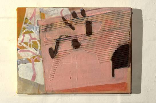 Acryl und Pappe auf Leinwand, 40 x 50 cm, 2013